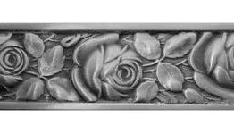 Notting Hill Cabinet Pull McKenna's Rose Antique Pewter
