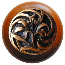 Notting Hill Cabinet Knob Tiger Lily/Cherry Antique Copper