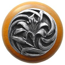 Notting Hill Cabinet Knob Tiger Lily/Maple Antique Pewter