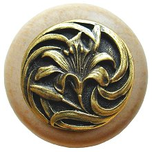 Notting Hill Cabinet Knob Tiger Lily/Natural Antique Brass