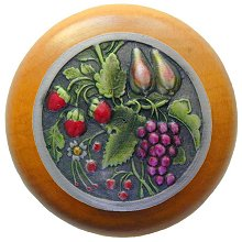 Notting Hill Cabinet Knob Tuscan Bounty/Maple Pewter Hand Tinted