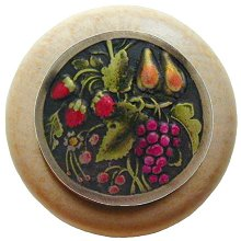 Notting Hill Cabinet Knob Tuscan Bounty/Natural Brass Hand Tinted