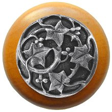 Notting Hill Cabinet Knob Ivy with Berries/Maple Antique Pewter