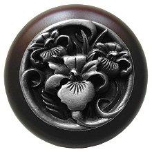 Notting Hill Cabinet Knob River Iris/Dark Walnut Antique Pewter