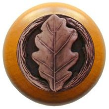 Notting Hill Cabinet Knob Oak Leaf/Maple Antique Copper