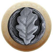 Notting Hill Cabinet Knob Oak Leaf/Natural Antique Pewter