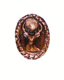 Buck Snort Lodge Decorative Hardware Small Whitetail Oval Cabinet Knob