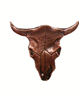 Buck Snort Lodge Decorative Hardware Cabinet Knob Steer Skull