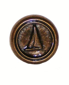 Buck Snort Lodge Hardware Round Cabinet Knob Small Sailboat