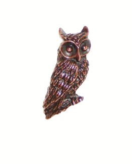 Buck Snort Lodge Decorative Hardware Cabinet Knob Horned Owl