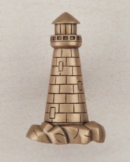 Acorn Manufacturing Lighthouse Cabinet Knob Museum Gold