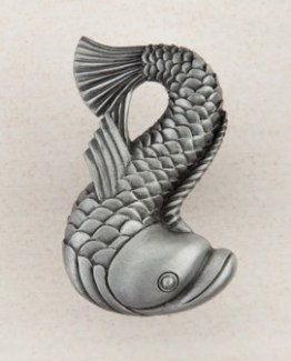 Acorn Manufacturing Dolphin Cabinet Knob Antique Pewter