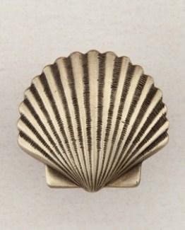 Acorn Manufacturing Small Scallop Cabinet Knob Antique Brass