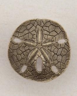 Acorn Manufacturing Sanddollar Cabinet Knob Antique Brass