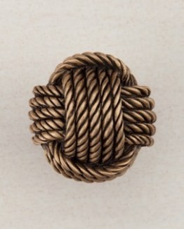 Acorn Manufacturing Monkey Fist Cabinet Knob Museum Gold
