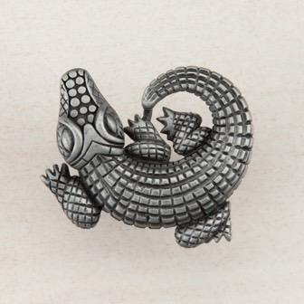 Acorn Manufacturing Alligator Cabinet Knob Antique Pewter