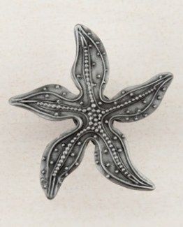 Acorn Manufacturing Beaded Starfish Cabinet Knob Antique Pewter