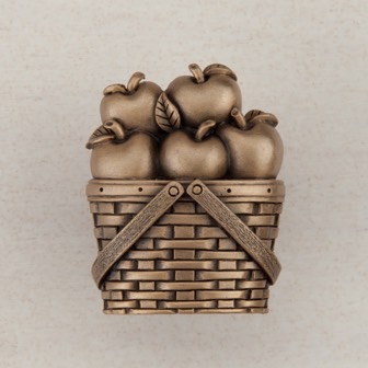 Acorn Manufacturing Apple Basket Cabinet Knob Museum Gold