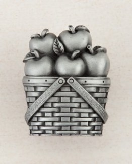 Acorn Manufacturing Apple Basket Cabinet Knob Antique Pewter