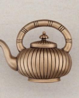Acorn Manufacturing Teapot Cabinet Knob Museum Gold
