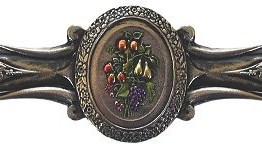 Notting Hill Cabinet Pull Fruit Bouquet Brite Nickel Hand Tinted