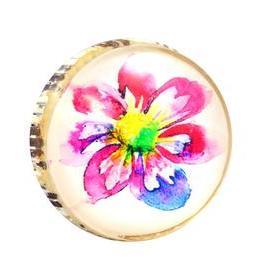 Charleston Knob Company Retro Metal Watercolor Flower Cabinet Knob