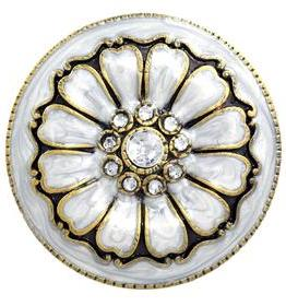 Charleston Knob Company Pearl Petals Cloisonné Jewel Cabinet Knob