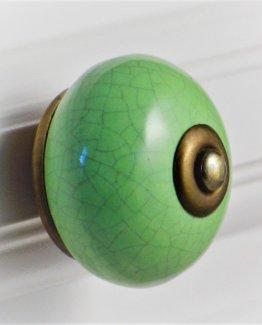 Charleston Knob Company Crackled Green Cabinet Knob