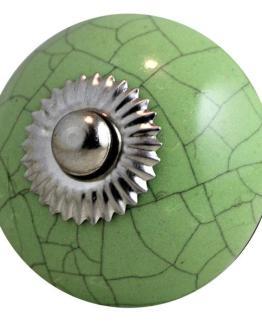 Charleston Knob Company Ceramic Crackled Green Cabinet Knob