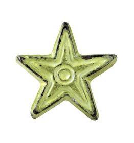 Charleston Knob Company Distressed Green Star Cabinet Knob