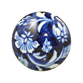 Charleston Knob Company Blue White Ceramic Cabinet Knob
