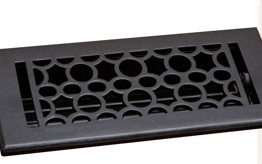 Deco & Deco 4X10 Cast Iron Art-Deco Floor Register Industrial Iron