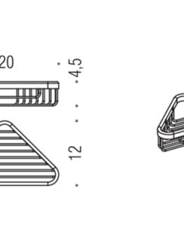 Colombo Design Basic Collection Single Corner Shower Basket