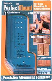 Laurey Perfect Mount Knob & Pull Template for Cabinet Doors