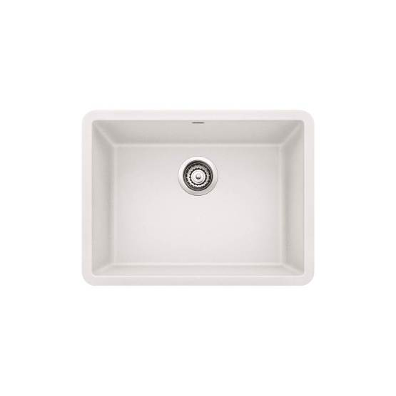"Blanco Precis 24"" Silgranit Single Bowl Kitchen Sink - White"