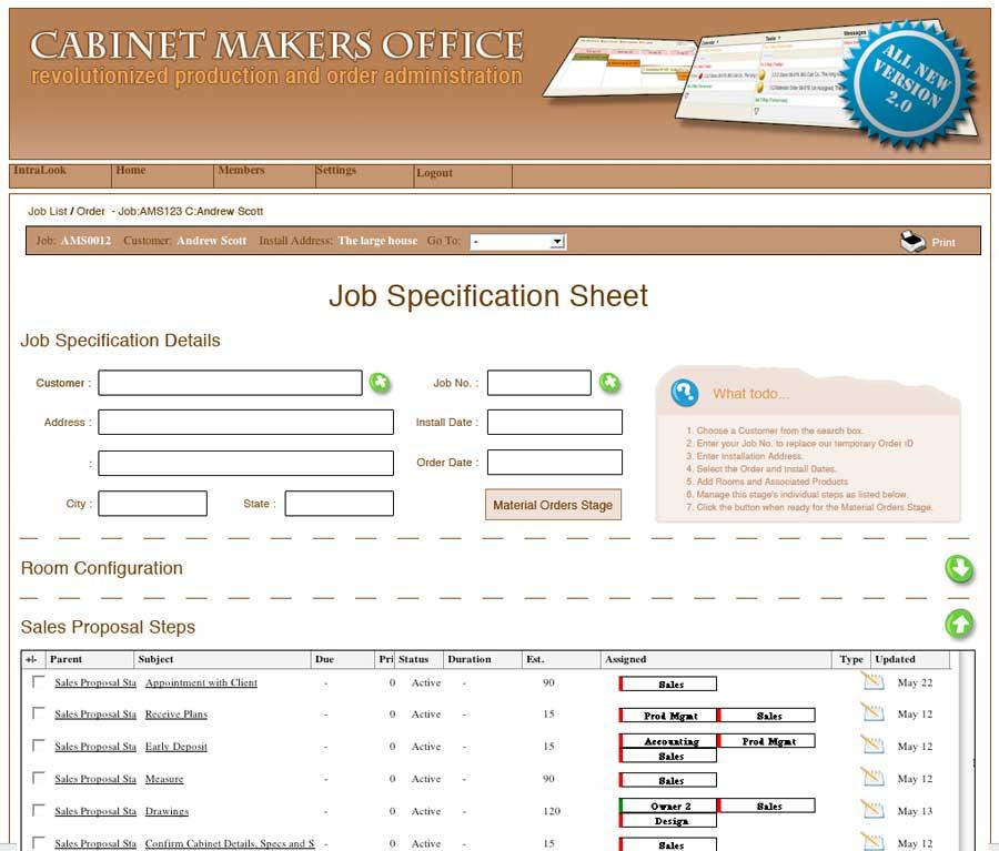 Cabinet Makers Office  Product  IntranetSitescom