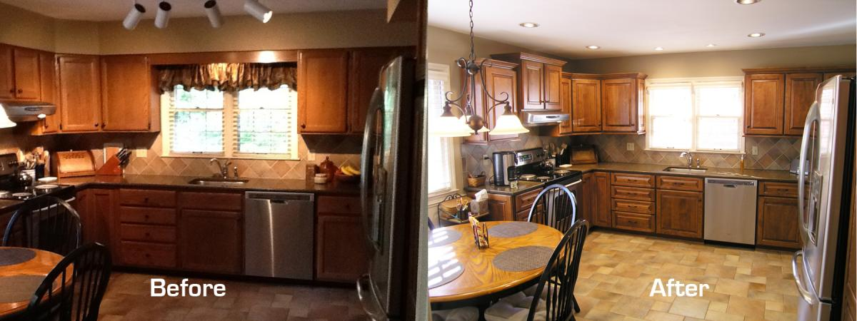 Gel Stain Kitchen Cabinets Before After Veterinariancolleges