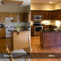 Kitchen Cabinet Refinishing Cost Distressed Tables Vs. Value 2013 Design In Kansas City ...