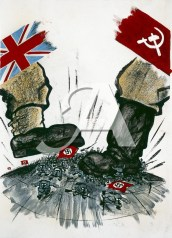 Pro-British and pro-Soviet propaganda drawn by the Central Office of Information during the Second World War.