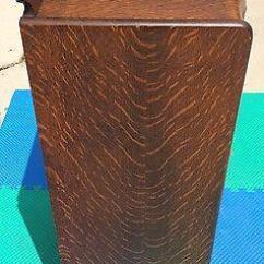 Antique Kitchen Hutch Flush Mount Lighting Herzog Tiger Oak 150+ Record Storage Cabinet ...