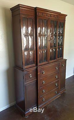 Antique Maddox Colonial Reproductions Hutch China Cabinet