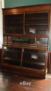 Antique Oak General Store Apothecary Display Case Circa ...