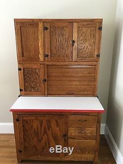 Antique Oak Hoosier Kitchen Cabinetearly 1900sbeautiful