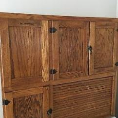 Mission Style Kitchen Hardware Mdf Cabinets Antique Oak Hoosier Cabinet-early 1900's-beautiful ...