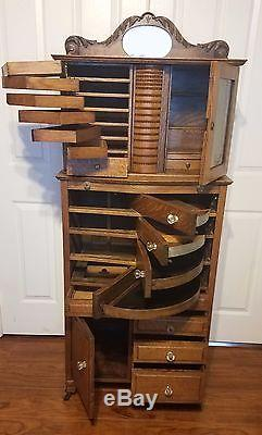 kitchen corner hutch faucet stainless steel antique oak ransom & randolph company dental cabinet #40 ...