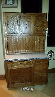 antique kitchen hutch wall mount faucet original early 1900's hoosier mfg. co. cabinet