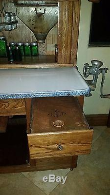 Antique Original Early 1900s Hoosier Mfg Co Kitchen Cabinet