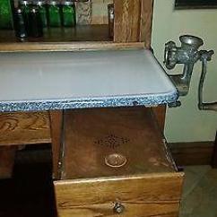 Corner Kitchen Curio Cabinet Backsplash Tile Design Ideas Antique Original Early 1900's Hoosier Mfg. Co.
