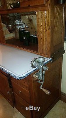 Antique Original Early 1900s Hoosier Mfg Co Kitchen Cabinet