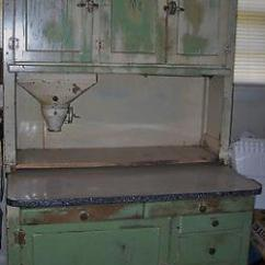 Mission Style Kitchen Hardware Cherry Wood Cabinets Photos Antique Vintage Hoosier Cabinet Enamel Top Shabby Chic